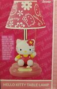 Sanrio Hello Kitty Table Lamp Pink Rare 2007 Collectible New In Box