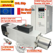 Fraandrarr4.5kw Bt30 Automatic Tool Change Atc Air Cooled Spindle Motor 380v+5.5kw Vfd