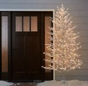New - Ge 7' Ft Winterberry White Pre-lit Christmas Holiday Tree 400 Led Lights