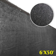 6and039 X 50and039 Black Fence Windscreen Privacy Screen Shade Cover Fabric Mesh Garden Us