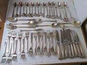 52 Pc Towle Stuart Shell Supreme Silverplate S/p Knives Forks Place 1986-89 Disc