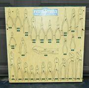 Vintage Proto Tools Commercial In-store Pliers Display Rack Panel No. 2