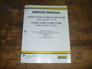 New Holland T7.220 T7.235 Tractor Steering Wheels Cab Shop Service Repair Manual