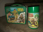 1975 Aladdin / Sid And Marty Kroft - Land Of The Lost - Metal Lunchbox And Thermos