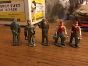 Lot 5 Vintage Lead Figure Workers Bum Railroad Barclay Manoil 1.5andrdquo