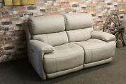 Relax Station Loco Rocco Beige Saddle Fabric Electric 2 Seater Sofa