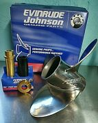 Johnson Evinrude Brp Rebel15 3/4 X 19 Lh Stainless Counter Rotation Prop + Hub
