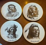 Perillo Indian Nations Blackfoot Cheyenne Apache Sioux Plates Hand Signed