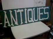 Original - Wood - Advertising - Sign - Hand Painted - Antiques