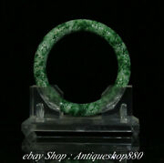 Top Natural Emerald Green Jade Carving Jewelry Pattern Bracelet Bangle Wristband