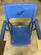 Vintage Chair From Veterans Stadium Signed By Mike Schmidt Coa