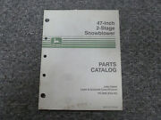 Jd John Deere 47 Inch Two 2 Stage Snowblower Parts Catalog Manual Pc1926