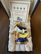 Halcyon Days Bonbonnieres 2004 Cow Jumped Over The Moon W/ Original Box