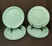 8x Crown Corning 11 Dinner Plates - Italy - Sky Blue Prego Aqua Teal Turquoise
