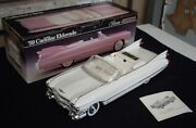 Jim Beam Car Decanter 59 Cadillac... Arctic White Only 150 Made Excellent Box.