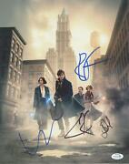 Fantastic Beasts And Where To Find Them Cast Autograph Signed 11x14 Photo Acoa