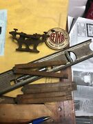 Lot Of Vintage Antique Tools Rulers Stanley Level Simonds Crescent Saw Tool 6 Pc