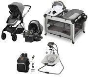 Single To Double Baby Stroller Travel System With Car Seat Nursery Center Swing