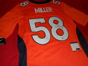 Von Miller Signed Autographed Broncos On Field Nike Sewn Nfl Football Jersey