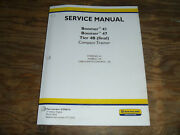 New Holland Boomer 47 Tractor 4b Wheels Steer Climate Shop Service Repair Manual