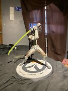 Overwatch Genji Statue Signed By Early Owl Team