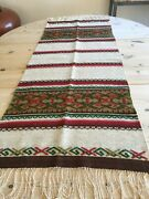 Brand New Norwegian Wool Hand Woven Table Runner From Norway Gorgeous