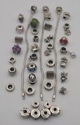 Wholesale Lot Of Sterling Silver Charm Bracelets And Beads Marked Si Gq
