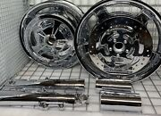 Harley Street Glide Chrome Wheels Forks Rotors Touring 2009 -19 Outright