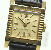 Rolex Precision 18k Yellow Gold Cal.1401 Antiquehand Winding Ladies_580853
