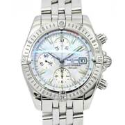 Breitling Chonomat Evolution Automatic White Shell Dial A13356 Mens 90113815