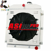 Pro 3 Row Radiator+shroud Fan For 1949-1954 1951 52 53 Chevy Pickup Truck At/mt