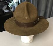 Rare United Hatters, Boy Scouts Of America Size 7 Oval Felt Hat W/ Bsa Hat Band