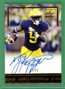 🔥jabrill Peppers Rc Auto 11/25 Gold 2017 Leaf Ultimate Draft Rookie Look 🤩📈