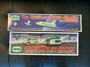 1999 And 2012 Hess Truck Toy Truck Lot - Helicopter Rescue And Space Shuttle