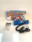 1990 Super Mario Brothers Telephone Nintendo Blue Touch Phone With Box Bondwell
