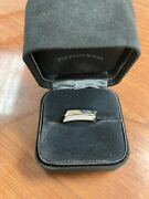 Set Of 2 And Co. Diamond 18k White Gold Frank Gehry Torque Square Bands