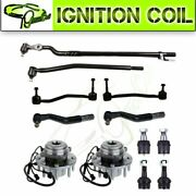 12parts Steering Wheel Bearing Hub Tie Rod Ball Joint For Ford F-250 Super Duty