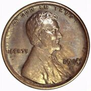 1914 S Lincoln Wheat Cent, A Beautiful Original High Grade Uncirculated Cent.