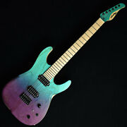 New Dragonfly D-fly Stl648 Light Ash Trans Blue To Purple Electric Guitar