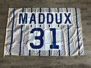 2013 Greg Maddux Retirement Wrigley Field Game Used Flag Chicago Cubs Mlb Holo