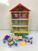 Peppa Pig Lights And039nand039 Sounds Family Home Playset 22 House W/ Mom And Daddy Figures