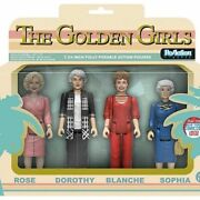 New Nycc 2016 Exclusive Funko Reaction The Golden Girls 4 Pack Pop Set Rare