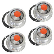 4 X Torque Trailer Hub Cap W/ Oil Port And Side Fill Plug Replaces Stemco 343-4009