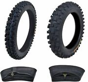 Kenda Tire Front 60/100-14 + Rear 80/100-12 With Inner Tube For Dirt Pit Bikes