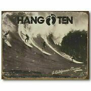 Hang Ten Tin Sign - Made In The Usa California Classic Metal Poster Discontinued