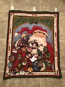Christmas Advent Calendar Santa Clause Is Coming Quilted Fabric Ornaments
