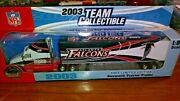 Nfl Kenworth Tractor-trailer Semi Truck Collectible Nfl Falcons Football 1/80