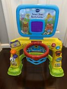 Vtech 80-156301 Smart Shots Sports Center Used With Soccer And Basketball