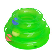 Cat Interactive Tower Of Tracks Three Layers Crazy Ball Cat Toys Pet Supplies