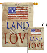 Land That I Love Garden Flag Star And Stripes Patriotic Yard House Banner